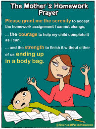 popular cartoons archives page of science of parenthood com a mother s homework prayer