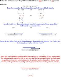 or x 7 in the picture below both of the inequalities are shown above the