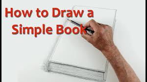start drawing part 7 draw a simple book