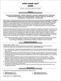Sample Resume Construction Project Manager Project Manager Resume Sample Template