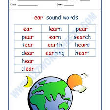 Here you'll find a collection of consonant blend worksheets for use at home or in the classroom. Worksheet Of English Phonics Sounds Ear Sound Words Sound Words Reading English Phonics Sounds English Phonics Phonics