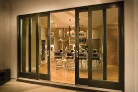 fiberglass sliding patio door dark frames