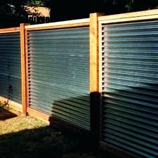 corrugated metal fence cost corrugated metal fence horizontal corrugated with cedar fence corrugated iron fence designs