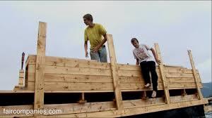 oregon teens dad team build floating barge home work
