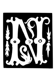 Kleurplaat Decoratieve Letter N Afb 19033 Images
