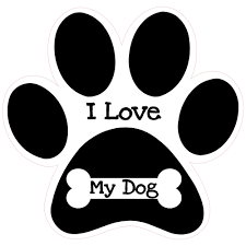 i love my dog paw print sticker u s custom stickers