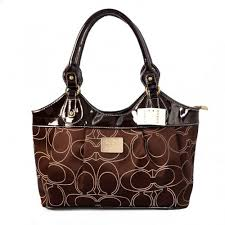 Coach Legacy Signature Medium Coffee Satchels BQE