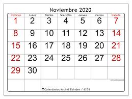 Calendario Noviembre 2020 Para Imprimir Calendario Noviembre 2020 62ds Michel Zbinden Es