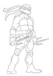 Teenage Mutant Ninja Turtles Coloring Pages To Print Coloring