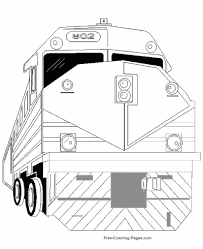 Get a train coloring picture of train engines, boxcars, subway trains, conductor. Train Coloring Pages