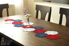 full size of doily table runner paper tutorial pattern of craft cutesy crafts kitchen gorgeous