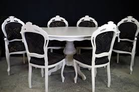 nice french style dining table and chairs french style dining table with 6 louis chairs painted vine