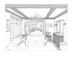 kitchen drawing perspective. Perfect Kitchen Bedroom Proposed And Kitchen Drawing Perspective