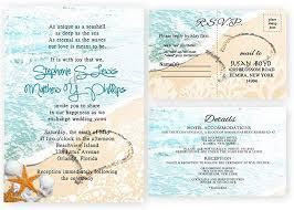 Response Cards Size Amazon Com Beach Wedding Invitations And Response Cards Set