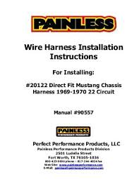 8 circuit universal remote mount modular harness painless wiring wire harness installation instructions painless wiring