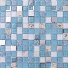 blue glass mosaic tile mother of peal tile kitchen backsplash ssmt035 stainless steel mosaic glass mosaic
