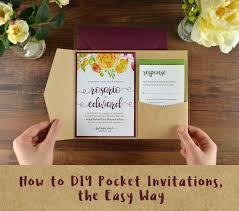 Diy Wedding Invitation Designs How To Diy Pocket Invitations The Easy Way Cards