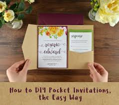 how to diy pocket invitations the easy way