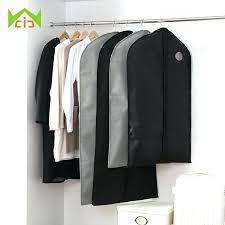 clothes storage bags zipper hanger coat full dress clothing cover garment suit storage bags zipper clothes clothes storage bags
