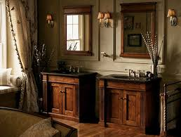 bathroom ideas gray wall paint mirror with wooden frame black granite countertop mounted washbasin stainless steel