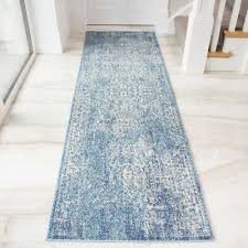 new modern traditional duck egg blue runner faded vintage long narrow hall rugs