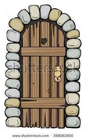wooden door clipart. Simple Door Old Wooden Door Drawn Stone Frame Stock Photo To Clipart E