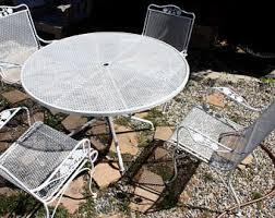 Amazoncom  Belham Living Stanton 42 X 72 In Oval Wrought Iron Woodard Wrought Iron Outdoor Furniture