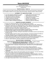Resume Sample For Criminal Justice Law Enforcement Graduate