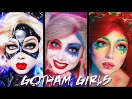 a pilation of my harley quinn poison ivy and catwoman makeup tutorials