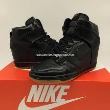 nike dunk sky hi sb black leather women shoes