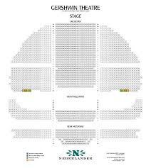 Gershwin Theater Seating Chart With Seat Numbers Gershwin Theatre Seating Chart