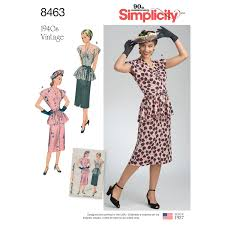 Vintage Simplicity Patterns Inspiration Simplicity Pattern 48 Misses' Vintage Two Piece Dress