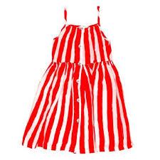 Buy Noe & Zoe Sun Dress Red Stripes Online in Dubai, UAE - Sprii