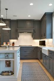 cabinets are painted with kendall charcoal from benjamin moore