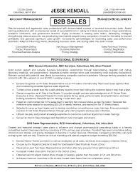 Resume Template Business To Business Sales Resume Sample Best