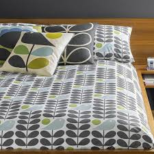 orla kiely early bird duvet cover granite amara