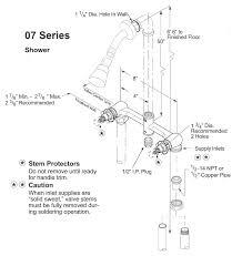 tub and shower plumbing delta tub shower valve installation tub shower faucet installation instructions