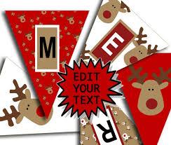 Editable Merry Christmas Banner Christmas Party Printable