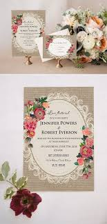 best 25 rustic wedding invitations cheap ideas on pinterest diy Cheap Wedding Invitations Burlap And Lace shabby chic floral printed lace and burlap rustic wedding invitations cheap wedding invitations burlap and lace