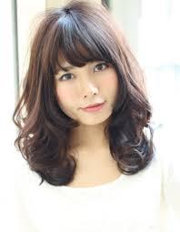 春の小顔ロング黒髪暗髪パーマhi 164 ヘアカタログ髪型ヘア