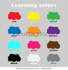 colors for kids. Fine Kids Learning Colors For Children Fun Education Game Kids Colorful Clouds  Preschool Worksheet In Colors For Kids E