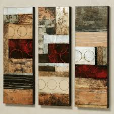 stratosphere set wall art canvas of three design abstract interior cool decoration home extraordinary fused sculpture