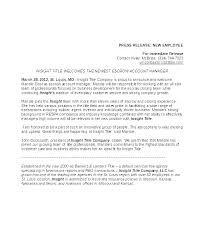 Business Press Release Template New Hire Press Release Template