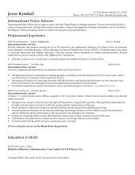 Law Enforcement Resume Objective Suiteblounge Com