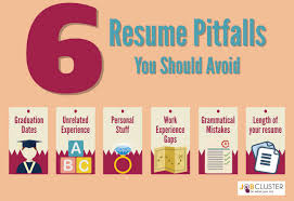 6 common resume pitfalls