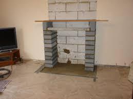 2 hearth laid blockwork pillars lintel 3 stove flue