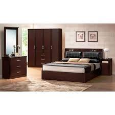 laminate brown bedroom furniture set