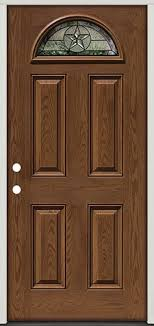 prefinished entry doors. pre-finished oak fiberglass door star fan lite #35 - front entry from prefinished doors