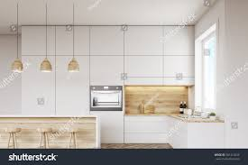 kitchen design view. front view of kitchen with oven sink countertops and window concept healthy design