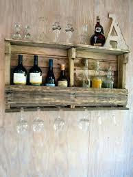wine rack shelf bar liquor rustic by wall shelves for
